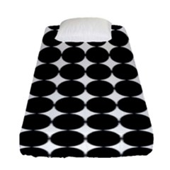 Dotted Pattern Png Dots Square Grid Abuse Black Fitted Sheet (single Size) by Mariart