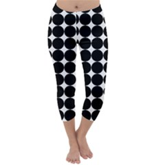 Dotted Pattern Png Dots Square Grid Abuse Black Capri Winter Leggings  by Mariart