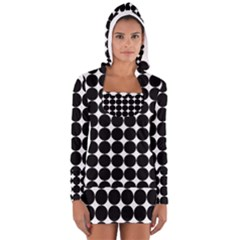 Dotted Pattern Png Dots Square Grid Abuse Black Women s Long Sleeve Hooded T Shirt by Mariart