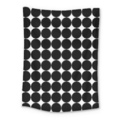 Dotted Pattern Png Dots Square Grid Abuse Black Medium Tapestry by Mariart