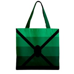 Fascigender Flags Line Green Black Hole Polka Zipper Grocery Tote Bag by Mariart