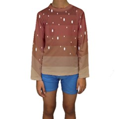 Fawn Gender Flags Polka Space Brown Kids  Long Sleeve Swimwear