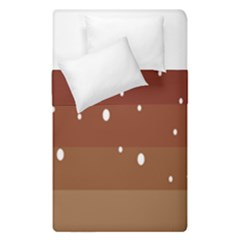 Fawn Gender Flags Polka Space Brown Duvet Cover Double Side (single Size) by Mariart