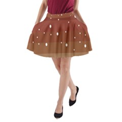 Fawn Gender Flags Polka Space Brown A Line Pocket Skirt by Mariart