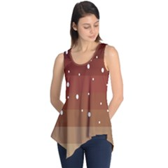Fawn Gender Flags Polka Space Brown Sleeveless Tunic