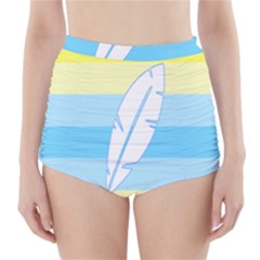 Feather Flags High Waisted Bikini Bottoms by Mariart