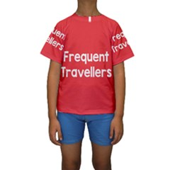 Frequent Travellers Red Kids  Short Sleeve Swimwear by Mariart