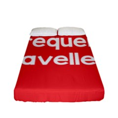 Frequent Travellers Red Fitted Sheet (full/ Double Size) by Mariart