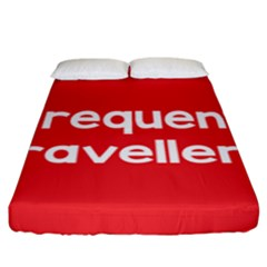 Frequent Travellers Red Fitted Sheet (king Size) by Mariart