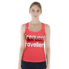 Frequent Travellers Red Racer Back Sports Top by Mariart