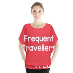 Frequent Travellers Red Blouse by Mariart
