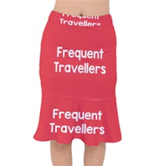 Frequent Travellers Red Mermaid Skirt by Mariart