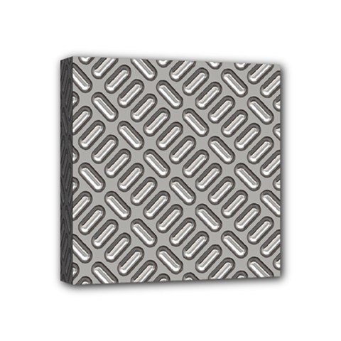 Capsul Another Grey Diamond Metal Texture Mini Canvas 4  X 4  by Mariart