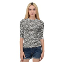 Capsul Another Grey Diamond Metal Texture Quarter Sleeve Tee by Mariart