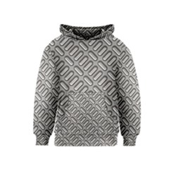 Capsul Another Grey Diamond Metal Texture Kids  Pullover Hoodie by Mariart