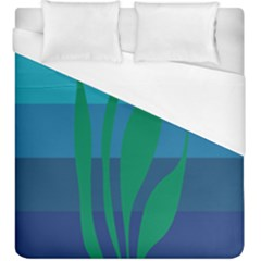 Gender Sea Flags Leaf Duvet Cover (king Size) by Mariart