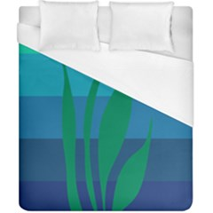 Gender Sea Flags Leaf Duvet Cover (california King Size) by Mariart