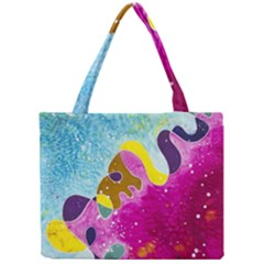 Fabric Rainbow Mini Tote Bag by Mariart