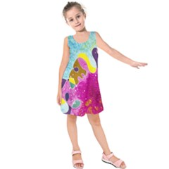Fabric Rainbow Kids  Sleeveless Dress by Mariart