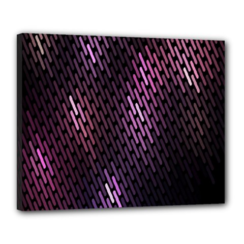 Light Lines Purple Black Canvas 20  X 16  by Mariart