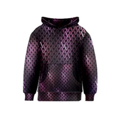 Light Lines Purple Black Kids  Pullover Hoodie