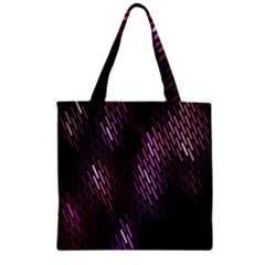 Light Lines Purple Black Zipper Grocery Tote Bag by Mariart