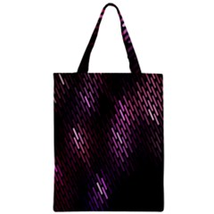 Light Lines Purple Black Zipper Classic Tote Bag by Mariart