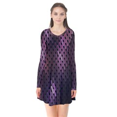 Light Lines Purple Black Flare Dress by Mariart