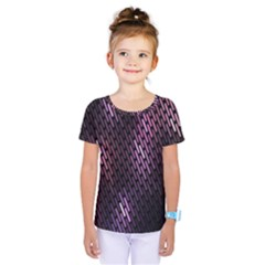 Light Lines Purple Black Kids  One Piece Tee by Mariart