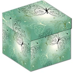 Glass Splashback Abstract Pattern Butterfly Storage Stool 12   by Mariart