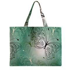 Glass Splashback Abstract Pattern Butterfly Zipper Mini Tote Bag by Mariart