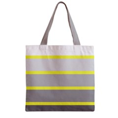 Molly Gender Line Flag Yellow Grey Zipper Grocery Tote Bag by Mariart