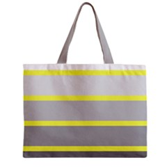 Molly Gender Line Flag Yellow Grey Zipper Mini Tote Bag by Mariart