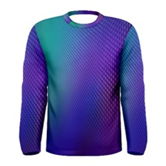 Galaxy Blue Purple Men s Long Sleeve Tee
