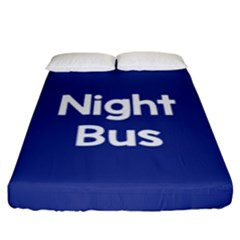Night Bus New Blue Fitted Sheet (king Size) by Mariart