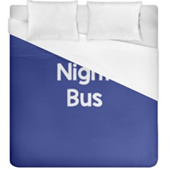 Night Bus New Blue Duvet Cover (king Size) by Mariart
