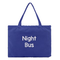Night Bus New Blue Medium Tote Bag by Mariart