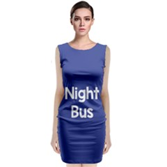 Night Bus New Blue Sleeveless Velvet Midi Dress