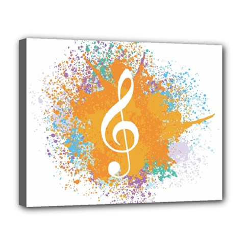 Musical Notes Canvas 14  X 11  by Mariart