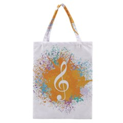 Musical Notes Classic Tote Bag by Mariart
