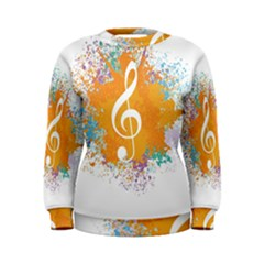 Musical Notes Women s Sweatshirt by Mariart
