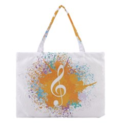 Musical Notes Medium Tote Bag by Mariart