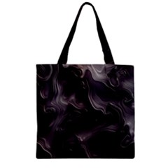 Map Curves Dark Zipper Grocery Tote Bag by Mariart