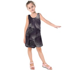 Map Curves Dark Kids  Sleeveless Dress by Mariart