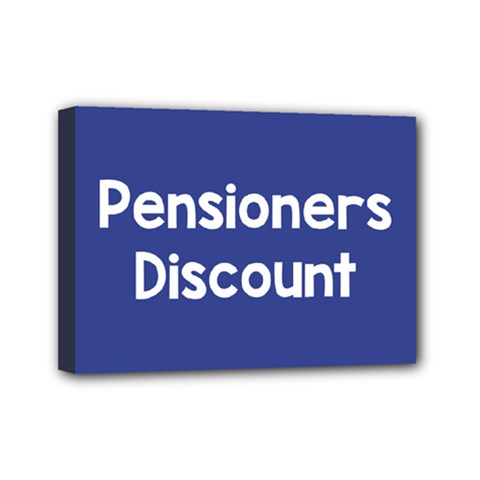 Pensioners Discount Sale Blue Mini Canvas 7  X 5  by Mariart