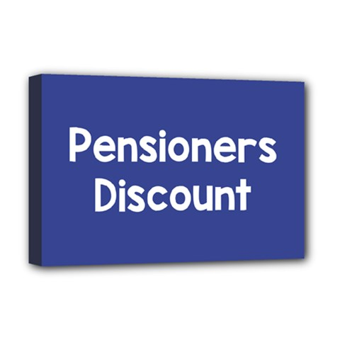 Pensioners Discount Sale Blue Deluxe Canvas 18  X 12   by Mariart