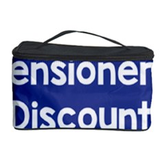 Pensioners Discount Sale Blue Cosmetic Storage Case by Mariart
