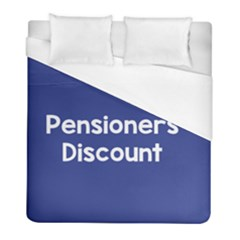 Pensioners Discount Sale Blue Duvet Cover (full/ Double Size) by Mariart