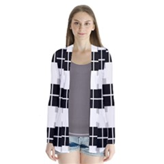 Plaid Black White Cardigans by Mariart