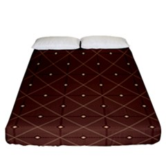 Coloured Line Squares Brown Plaid Chevron Fitted Sheet (california King Size)